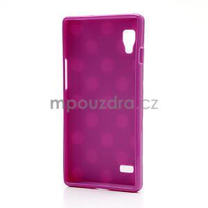 Gelové PUNTÍK pouzdro pro LG Optimus L9 P760-fialové - 4