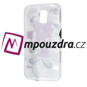 Gelové pouzdro na Samsung Galaxy S5- fialový květ - 4