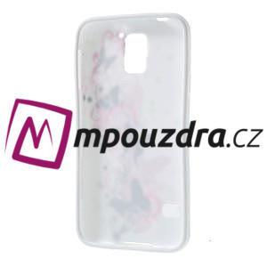 Gelové pouzdro na Samsung Galaxy S5- motýl květina - 4