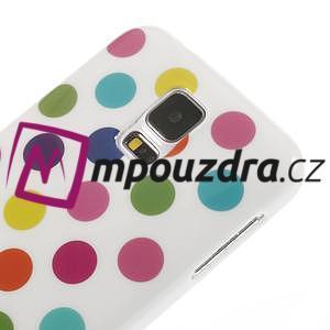 Gelové puntíkaté pouzdro na Samsung Galaxy S5- bílobarevné - 4