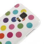 Gelové puntíkaté pouzdro na Samsung Galaxy S5- bílobarevné - 4/5
