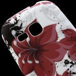 Gelové pouzdro na Samsung Galaxy Young S6310- červený květ - 4/5