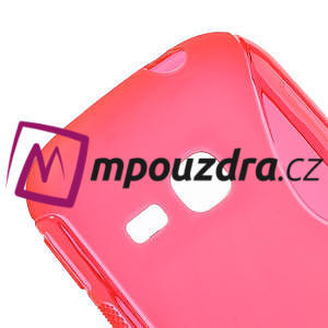 Gelové S-line pouzdro na Samsung Galaxy Young S6310- růžové - 4