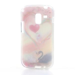 Gelové pouzdro na Samsung Galaxy Trend, Duos- labutí srdce - 4