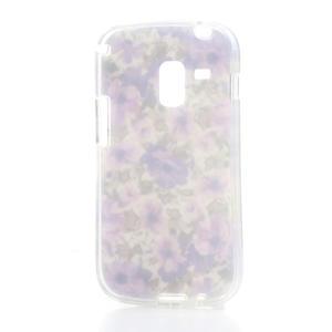 Gelové pouzdro na Samsung Galaxy Trend, Duos- fialové květy - 4