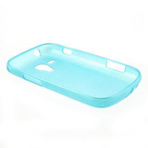 Kartáčované pouzdro na Samsung Galaxy Trend, Duos- modré - 4