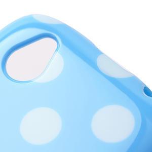 Gelové PUNTÍK pouzdro na HTC Desire X- modrý - 4