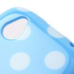 Gelové PUNTÍK pouzdro na HTC Desire X- modrý - 4/6