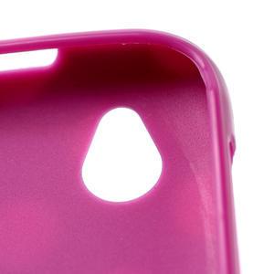 Gelové PUNTÍK pouzdro na HTC Desire X- fialový - 4