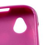 Gelové PUNTÍK pouzdro na HTC Desire X- fialový - 4/6