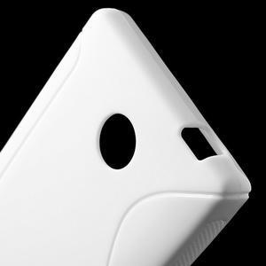Gelové S-line pouzdro na Nokia X dual- bílé - 4