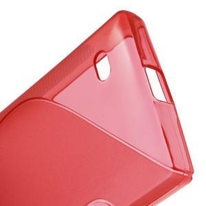 Gelové S-line pouzdro na Nokia X dual- červené - 4