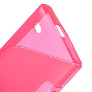Gelové S-line pouzdro na Nokia X dual- růžové - 4