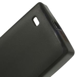 Gelové matné pouzdro na Nokia X dual-černé - 4