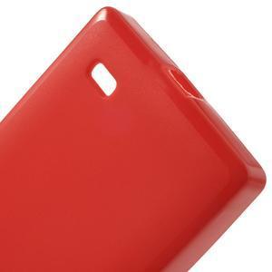 Gelové matné pouzdro na Nokia X dual- červené - 4