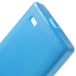 Gelové matné pouzdro na Nokia X dual- modré - 4