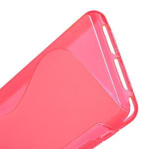 Gelové S-line pouzdro na Sony Xperia Z1 Compact D5503- růžové - 4
