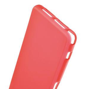 Gelové matné  pouzdro na Sony Xperia Z1 Compact D5503- červené - 4