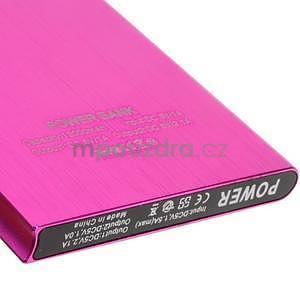 Luxusní kovová externí nabíječka power bank 12 000 mAh - rose - 4