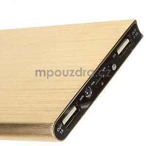 Luxusní kovová externí nabíječka power bank 12 000 mAh - zlatá - 4