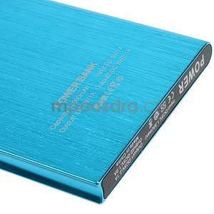 Luxusní kovová externí nabíječka power bank 12 000 mAh - modrá - 4