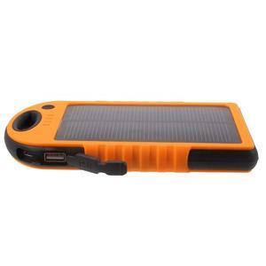 Outdoor GX vysokokapacitní externí solární nabíječka 12 000 mAh - oranžová - 4