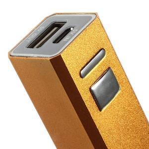 GTX kovová externí nabíječka 2 600 mAh - oranžová - 4