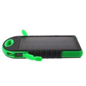 Outdoor GX vysokokapacitní externí solární nabíječka 12 000 mAh - černá/zelená - 4