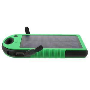 Outdoor GX vysokokapacitní externí solární nabíječka 12 000 mAh - zelená/černá - 4