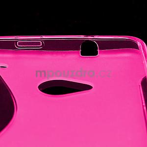Gelové S-line pouzdro pro HTC one M7- růžové - 4