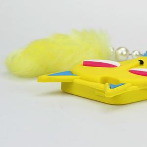 Gelové 3D pouzdro na iPhone 5, 5s- kočka žlutá - 4