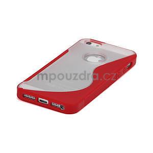S-line hybrid pouzdro pro iPhone 5, 5s- červené - 4