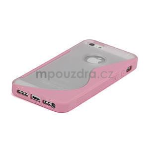 S-line hybrid pouzdro pro iPhone 5, 5s- světlerůžové - 4