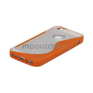 S-line hybrid pouzdro pro iPhone 5, 5s- oranžové - 4