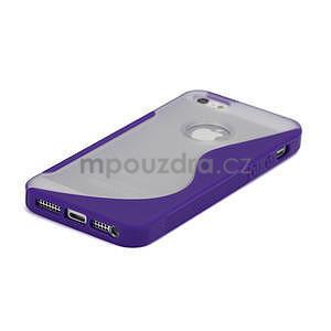S-line hybrid pouzdro pro iPhone 5, 5s- fialové - 4