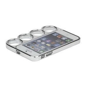 Ocelové lehké pouzdro na iPhone 5, 5s- stříbrné - 4