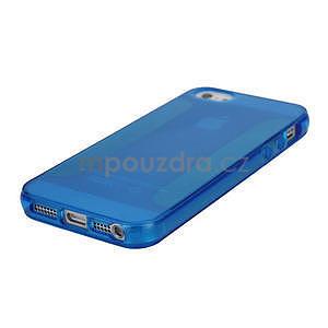 Gelové pouzdro pro iPhone 5, 5s- modré - 4