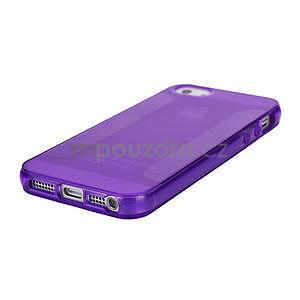 Gelové pouzdro pro iPhone 5, 5s- fialové - 4