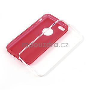 Gelové rámové pouzdro pro iPhone 5C- červené - 4