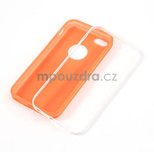 Gelové rámové pouzdro pro iPhone 5C- oranžové - 4