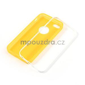 Gelové rámové pouzdro pro iPhone 5C- žluté - 4