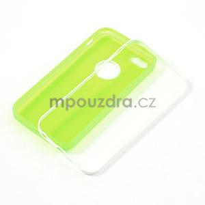 Gelové rámové pouzdro pro iPhone 5C- zelené - 4