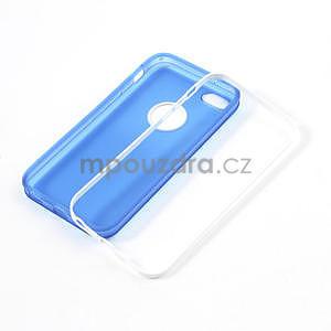 Gelové rámové pouzdro pro iPhone 5C- modré - 4