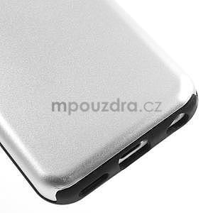 Gelové metalické pouzdro pro iPhone 5C- bílé - 4