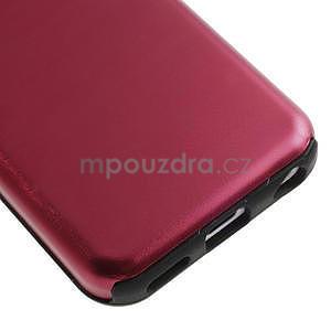 Gelové metalické pouzdro pro iPhone 5C- červené - 4