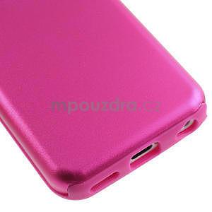 Gelové metalické pouzdro pro iPhone 5C- růžové - 4