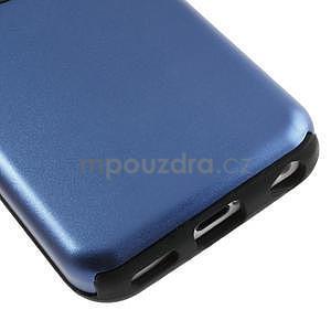 Gelové metalické pouzdro pro iPhone 5C- modré - 4