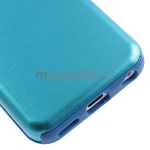 Gelové metalické pouzdro pro iPhone 5C- světlemodré - 4