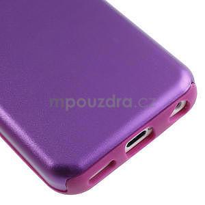 Gelové metalické pouzdro pro iPhone 5C- fialové - 4