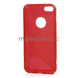 Gelové S-line pouzdro pro iPhone 5C- červené - 4